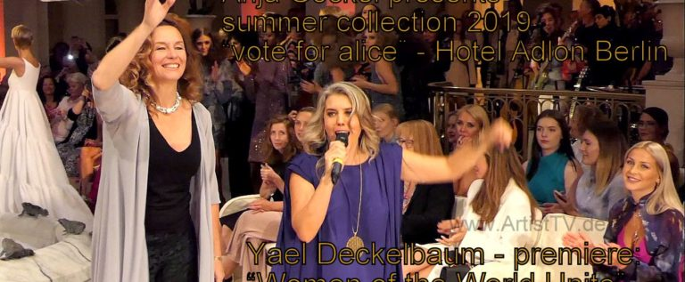"FASHION WEEK BERLIN 2019 – Anja Gockel presents ""vote for alice"" & Yael Deckelbau premiere: ""Women of the World Unite"" – Hotel Adlon Kempinski / Weitere Designer in Kürze!"