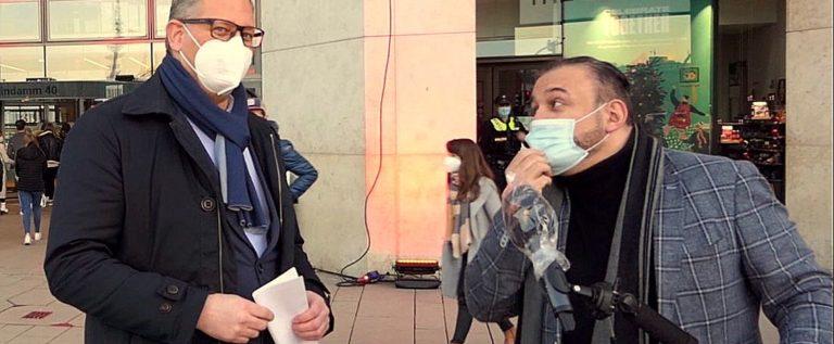 """Die EUROPA PASSAGE setzt ein Zeichen! Initiative """"das Leben gehört ins Zentrum"""""""