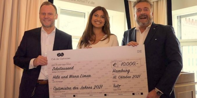 """31. CLUB DER OPTIMISTEN – Optimisten-Preis für das Projekt """"Visions for Children"""" – Laudator Innen- und Sportsenator Andy Grote"""